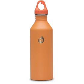 MIZU M8 Bottle with Orange Loop Cap 800ml Soft Touch Orange LE